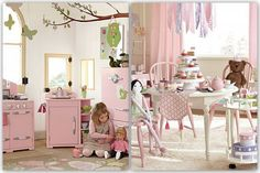 Pic via;potterybarnkids Last week, my daughter came to me and her sudden wish was to have a Barbie Play House in her room for her birthday. I was wonderin
