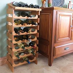 Offex 4 Bottle Dakota Wine Display Light Oak ** Check this awesome product by going to the link at the image. (This is an affiliate link) Wine Bottle Rack, Bottle Wall, Bottle Opener, Tabletop, Wine Cellar Innovations, Hanging Wine Glass Rack, Wine Stand, Wine Display, Wood Wine Racks