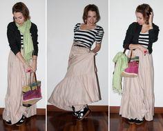 As baixinhas também podem usar saia longa