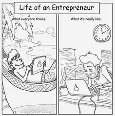 IM The Online Guru: Life Of An Entrepreneur - Cartoon Funny