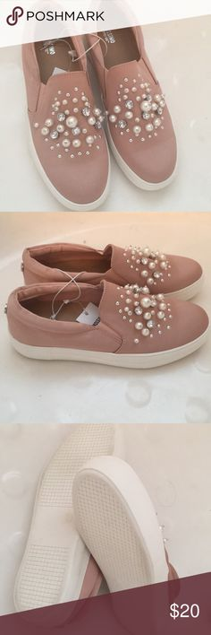 Mossimo Target Pearl Rhinestone Satin Sneakers Sz9 Brand new. All pearls and rhinestones are intact. From a smoke free, pet free home. Not interested in trading. Mossimo Supply Co Shoes