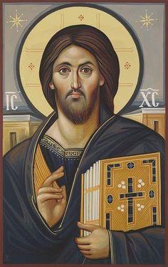 Byzantine Icons, Byzantine Art, Christian Images, Christian Art, Religious Icons, Religious Art, Orthodox Prayers, Christ Pantocrator, Jesus Christ Images