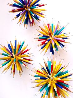 DIY pencil decor for back-to-school. http://themarketnz.com/