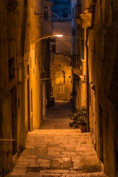 Deserted Maltese street, Valletta, Malta