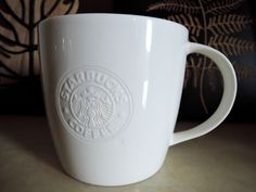 Starbucks retired logo white bone china 2008-2009. 20 oz. US version.