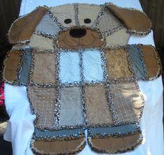 DENIM  RAG QUILT Childs Rag Quilt Dog Rag by TheNeedleNPinsPrject