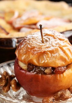 Walnuts _ This recipe for baked apple with walnuts is like apple pie ...