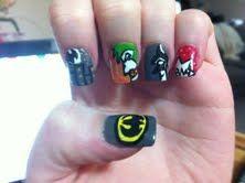 Holy Fingernails, Batman! :  wedding batman beauty fake nails Batman Nails