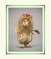 R John Wright Wizard of Oz Cowardly Lion Mouse Collectible Doll