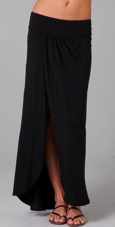 Nightcap long jersey skirt