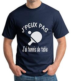T-Shirt Humoristique Noir Je Peux Pas JAi p/étanque Cadeau f/ête des p/ères 100/% Coton Cadeau f/ête des p/ères f/ête des m/ères