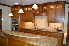 Craftsman Style Kitchen with Center Island (Cultivate.com)
