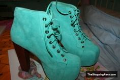 light blue boots by Jeffrey Campbell  The Shopping Fans