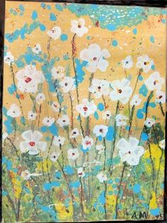 Daisy field painting by LovelyMiss