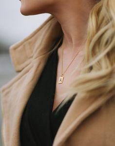 Barefoot Blonde scrabble tile necklace