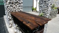 mesa con gavones Dining Table, Rustic, Wood, Furniture, Home Decor, Mesas, Country Primitive, Woodwind Instrument, Dinning Table