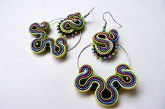 Pendientes soutache pendientes aro pendientes flamenca