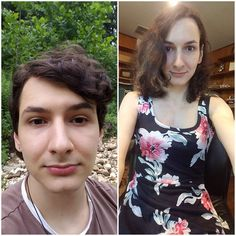 A place to share transition timelines. Male To Female Transition, Mtf Transition, Male To Female Transgender, Transgender Mtf, Male To Female Transformation, Gorgeous Women, Beautiful, Crossdressers, Feminism
