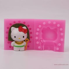 3D Cartoon Cat Christmas Silicone Mold Soap Clay Chocolate Jelly Sugar Paste Fondant Mold by MsDIYSupplies on Etsy