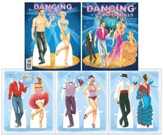Dancing with Paper Dolls - Scratch-n-Dent sale [Scratch-n-Dent sale] : Paper Dolls of Classic Stars, Vintage Fashion and Nostalgic Characters, for Kids and Collectors Dance Fashion, Star Fashion, Barbie Fashion Sketches, Paper Dolls Book, Comic Book Style, Hollywood Fashion, Dancing With The Stars, Classic Films, Contemporary Fashion