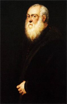 Portrait of a White Bearded Man, 1545  Tintoretto