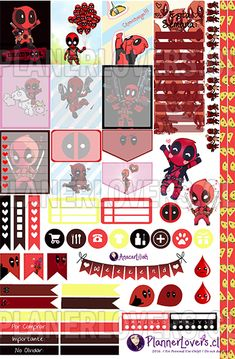 This is Deadpool – Stickers Semanales Imprimibles