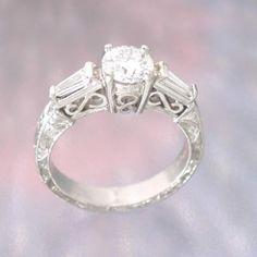 Filigree diamond wedding rings Los Angeles - The Wedding Specialists