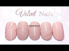 Velvet Nails, Nail Art Diy, Arts And Crafts, Pink, Beauty, Youtube, Sweater Nails, Short Nails, Nail Manicure