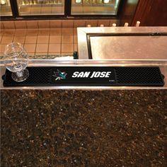 San Jose Sharks NHL Drink Mat (3.25in x 24in)