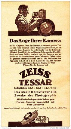 Original-Werbung/ Anzeige 1926 - ZEISS TESSAR OBJEKTIV / CARL ZEISS JENA - ca…