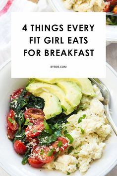 Want to know the four things every fit girl eats for breakfast? The answer might surprise you.