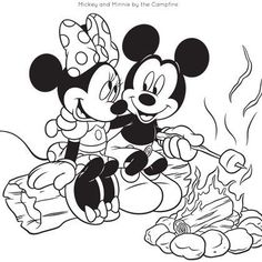 Mickey+and+Friends+Coloring+Pages | Mickey and Friends Camping Coloring Pages