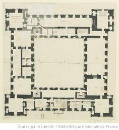 Ancy-le-Franc, château : plan du premier étage