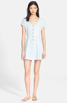 Current/Elliott 'The Valley' Chambray Dress available at #Nordstrom