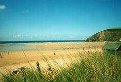 Mawgan Porth, Cornwall.  I love this beach at 6am....so quiet and peaceful.