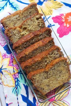 The Best Banana Bread (ever.) via The Baker Chick, easy as can be, one bowl, and comes out perfect every time. It is the most moist, flavorful, melt-in-your mouth banana bread*
