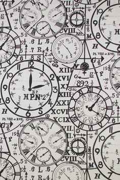 Timepiece fabric in Ink from Lacefield Designs pinned with Bazaart