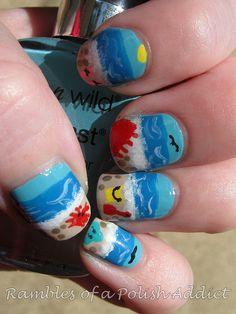 Summer Beach nails!