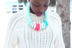 Neon Necklace/Fashion Necklace/Mint necklace/Statement by IKKX