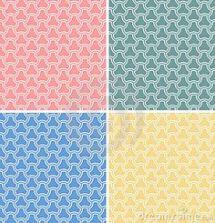 Set Of Four Vector Geometric Seamless Patterns - Download From Over 30 Million High Quality Stock Photos, Images, Vectors. Sign up for FREE today. Image: 22344804