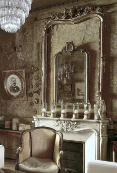 This Old World French Living Space Gives Us Some Inspiring and Wonderful Decorating Ideas! See More at thefrenchinspiredroom.com