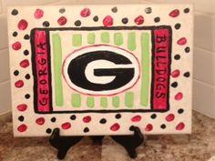 Georgia Bulldogs kitchen ceramic decorative tile. by GloryGiver, $25.00