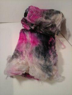 Suri Alpaca/Polwarth/Nylon Fiber Batt Sock by BreezyRidgeAlpacas