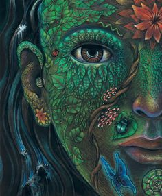 Reflections on Ayahuasca, Psychedelics, and Marijuana (Image 'Plant Life' by Clancy Cavnar) Psychedelic Art, Life Poster, Psy Art, Visionary Art, Trippy, Amazing Art, Fantasy Art, Images, Drawings