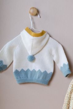 Vauvan neuletakki Baby Knitting, Crochet Baby, Knit Crochet, Knitted Baby Clothes, Baby Knits, Free Pattern, Diy And Crafts, Baby Boy, Pullover