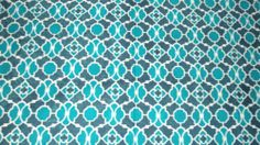 Printed coverlet from India - turquoise and teal