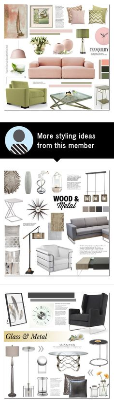 """Untitled #180"" by anyasdesigns on Polyvore featuring interior, interiors, interior design, home, home decor, interior decorating, Muuto, Joybird Furniture, Universal Lighting and Decor and Oliver Gal Artist Co."