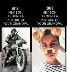 Your Grandpa Was So Brave To Use The Dog Filter. #rosaforlife