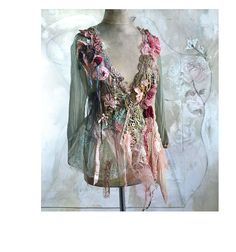 RESERVED Art To Wear Feminine Silk Transparent by Paulina722