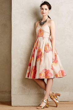 Blazing Hibiscus Dress - $448.00 Tracy Reese at anthropologie.com
